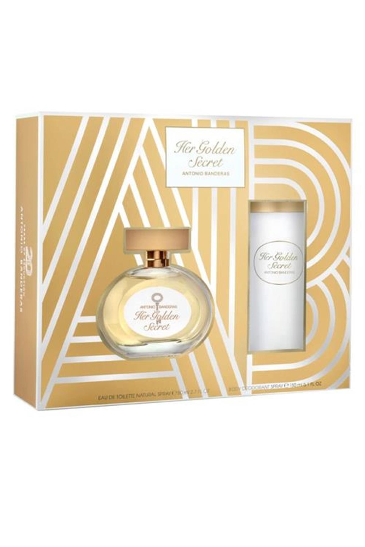Antonio Banderas Her Golden Secret EDT 80 ml Kadın Parfüm Seti
