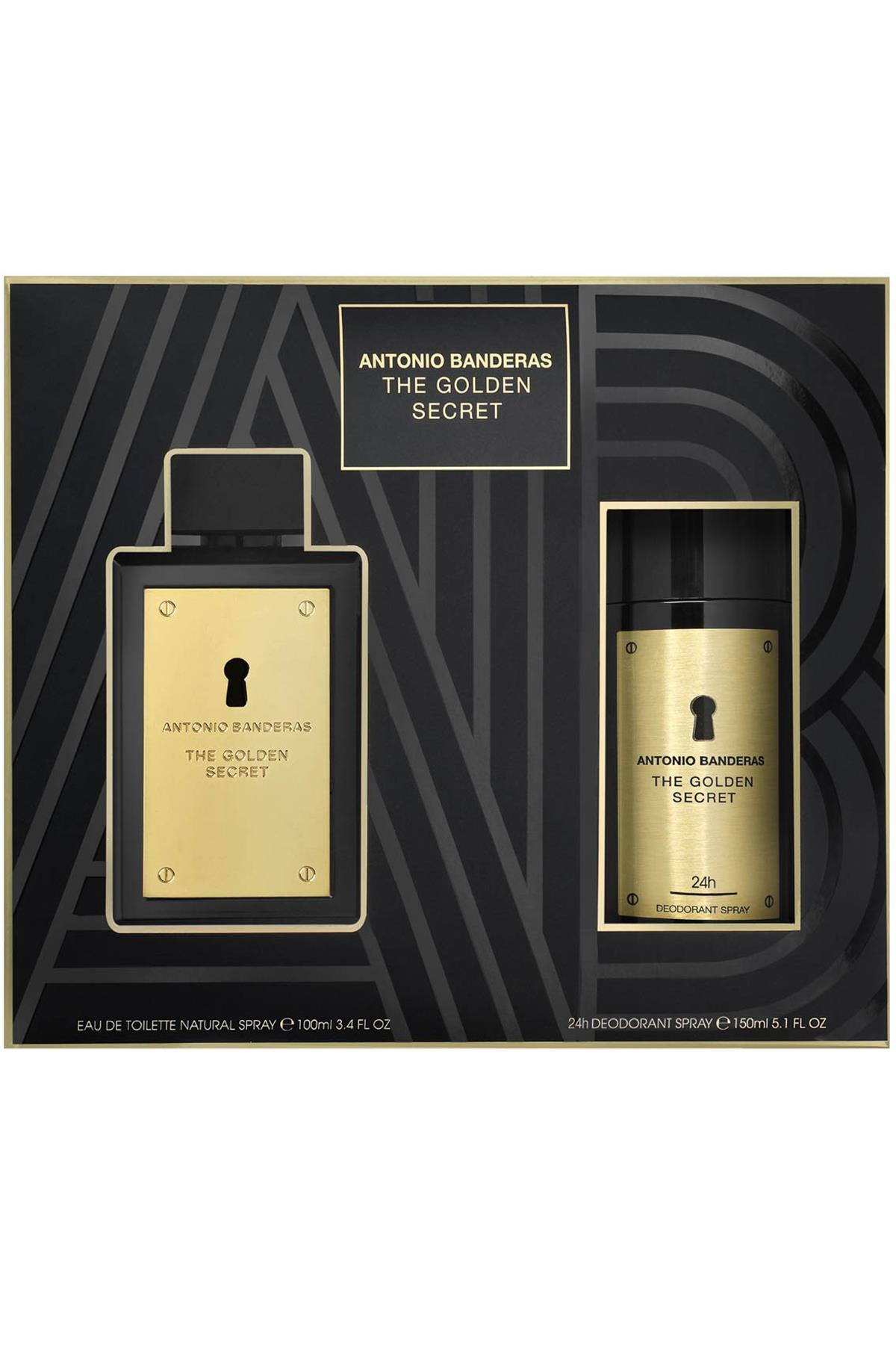 Antonio Banderas The Golden Secret EDT 100 ml Erkek Parfüm Seti