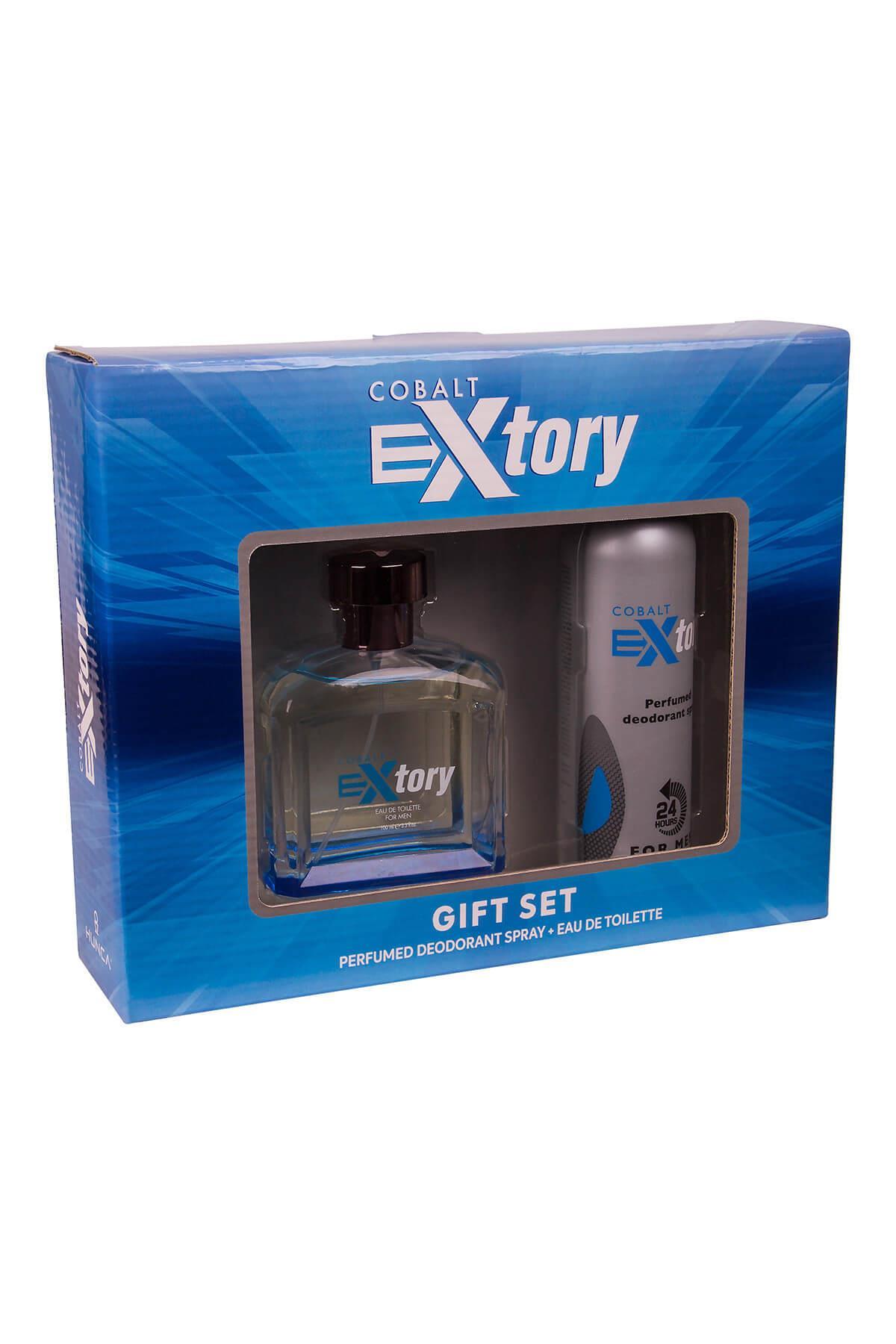 Extory Cobalt EDT 100 ml Erkek Parfüm Seti