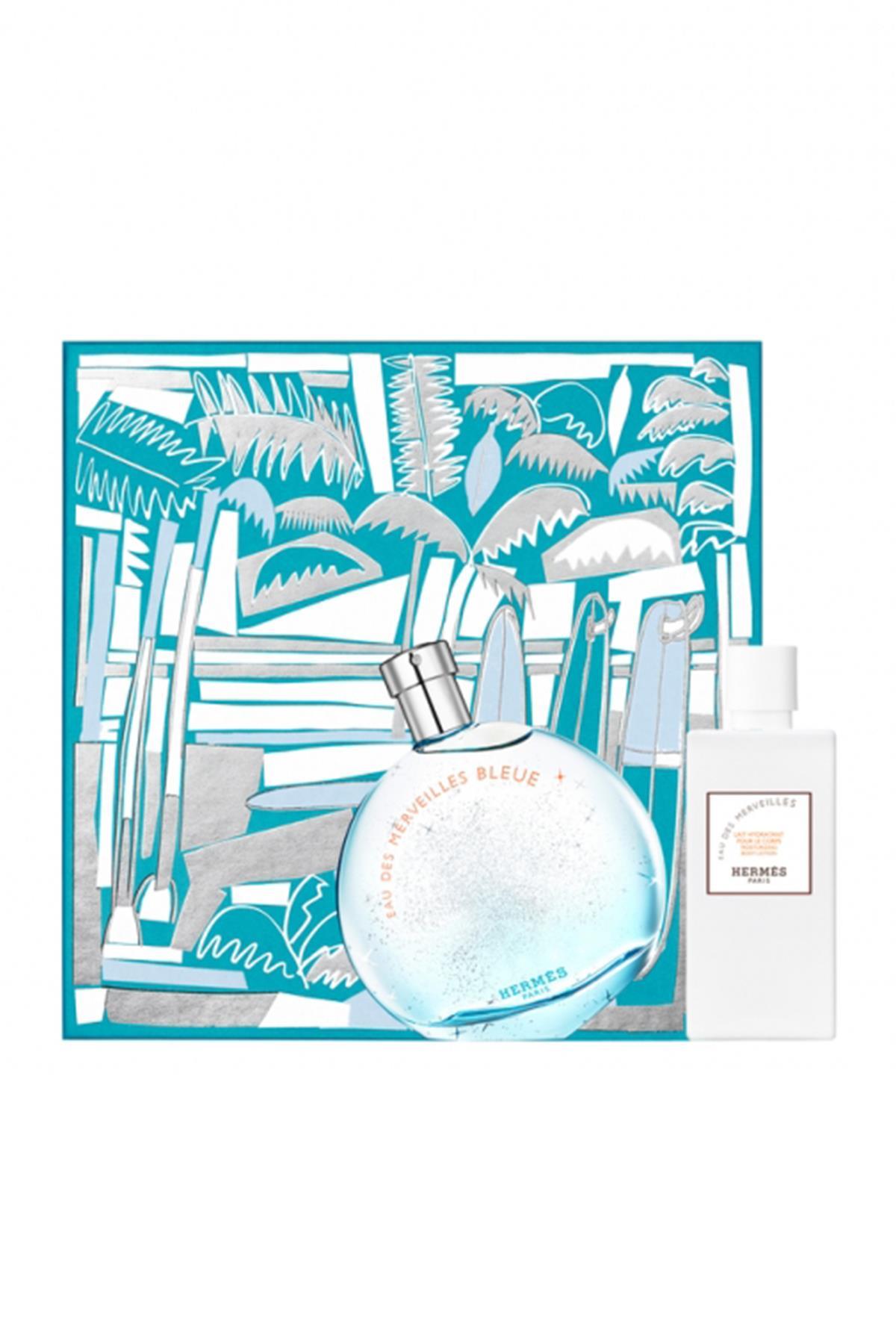 Hermes Eau Des Merveilles Bleue EDT 100 ml Kadın Parfüm Seti