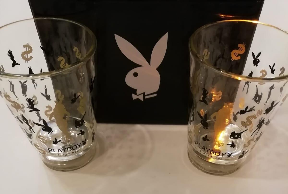 Playboy Gift Shot Glasses x2