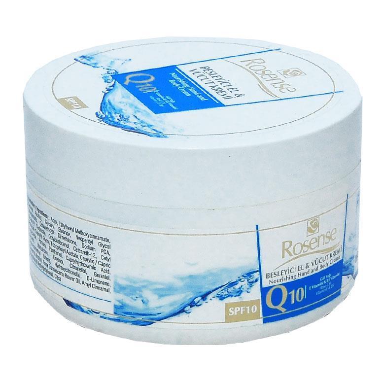 Rosense Besleyici El ve Vücut Kremi Q10 250 ml
