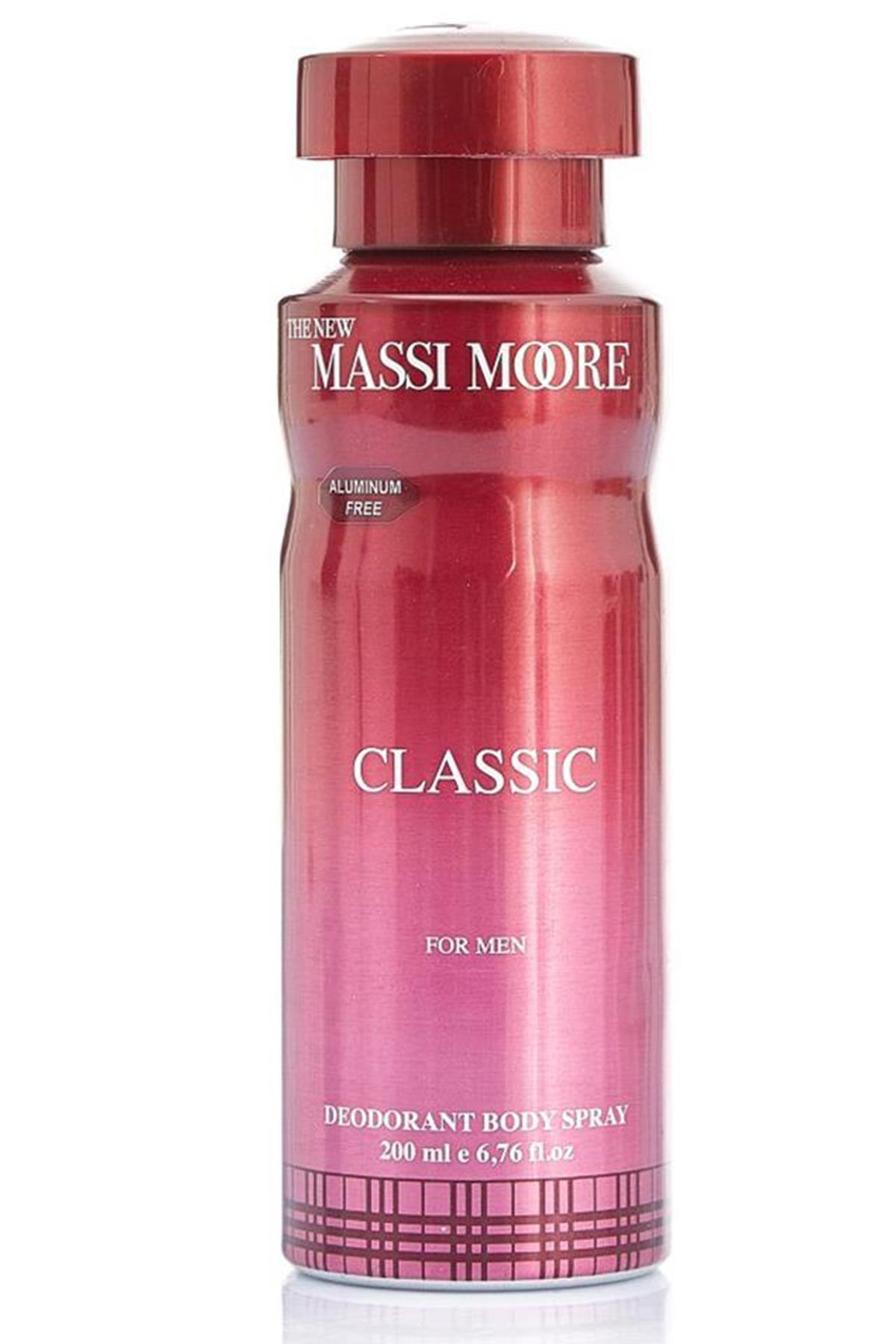 The New Massi Moore Classic Erkek Deodorant 200 ml
